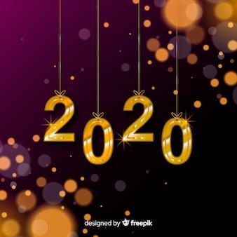 Verschwommenes neues jahr 2020