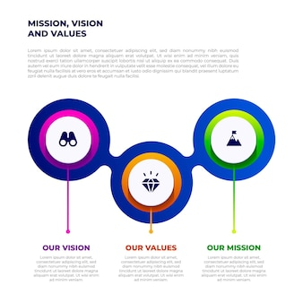 Versehen sie unsere missionsinfografiken mit details