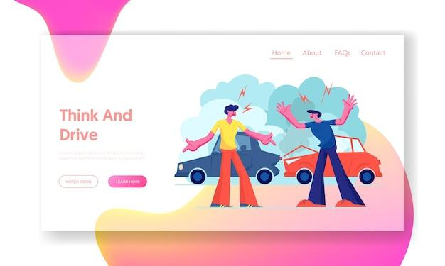 Versicherung, verkehr, website landing page