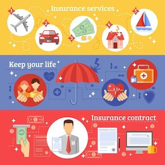 Versicherungs-fahnen-set