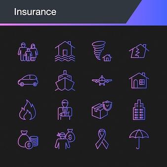 Versicherungs-ikonen