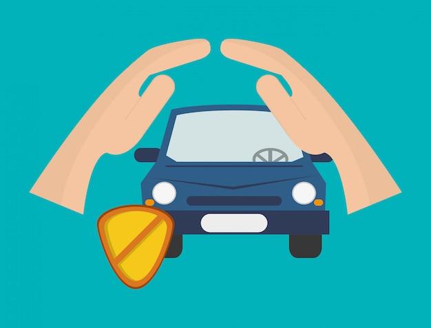 Versicherungsdienstleistungen bezogenen ikonen bild