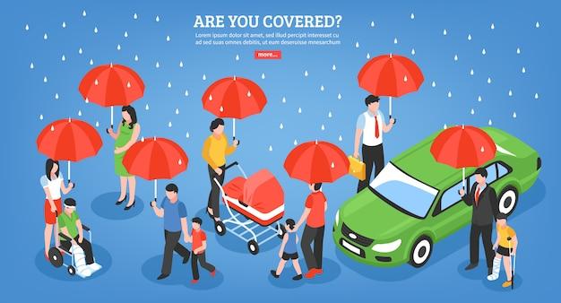 Versicherungsdienstleistungen design-konzept