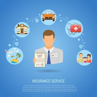 Versicherungsdienstleistungen konzept