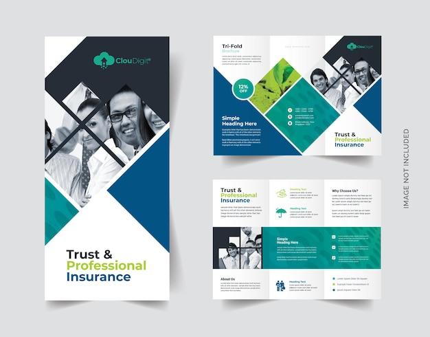Versicherungsgesellschaft trifold broschüre