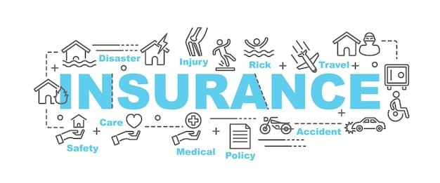 Versicherungsvektorfahne