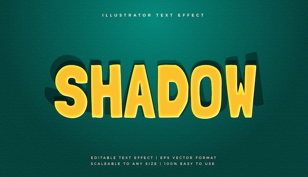 Verspielter comic shadow text style schrift-effekt