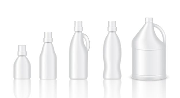 Verspotten sie realistische plastic gallon packaging