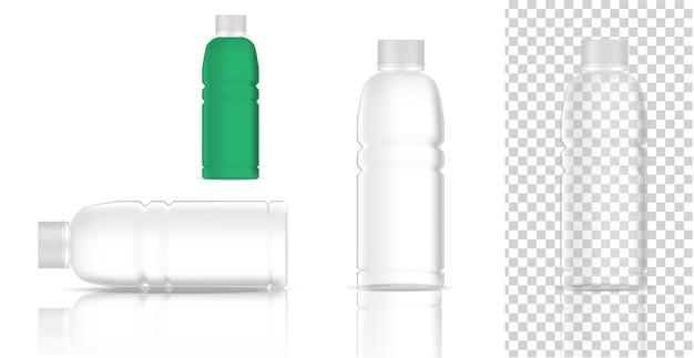 Verspotten sie realistische plastiktransparente verpackung