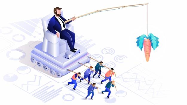 Versteckte crowd-verwaltung. globalisierung, leader