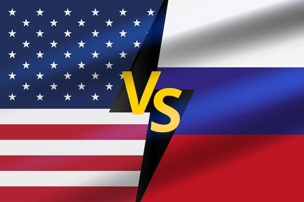 Versus battle background. usa gegen russland schlacht.