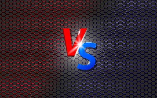 Versus bildschirm kampfhintergrund rot gegen blau