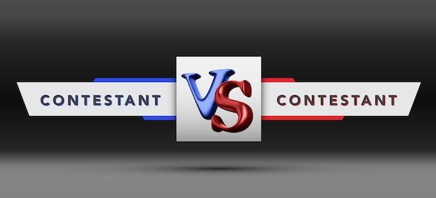 Versus board der rivalen, mit platz für text. vektor-illustration. vektor-illustration