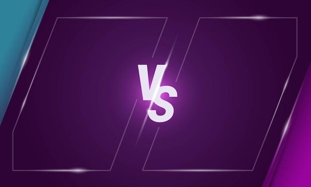 Versus buchstaben bildschirmhintergrunddesign