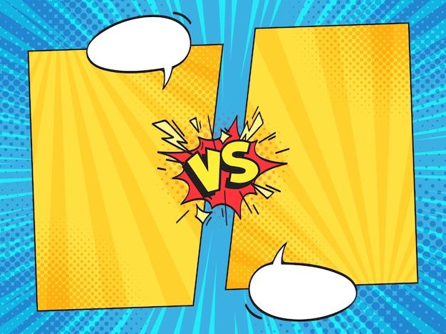 Versus comic-rahmen