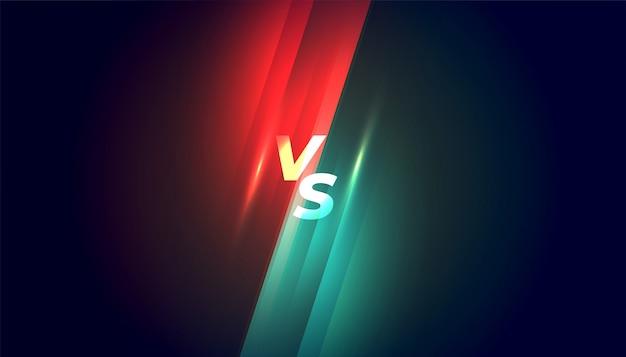 Versus gegen konkurrenz und kampfhintergrund
