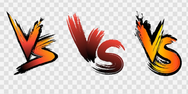 Versus vs buchstaben bekämpfen hintergründe im flachen comic-stil mit halbton, blitz. illustration