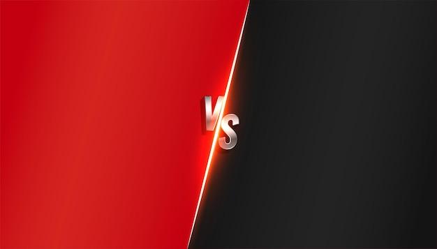 Versus vs hintergrund in roter und schwarzer farbe