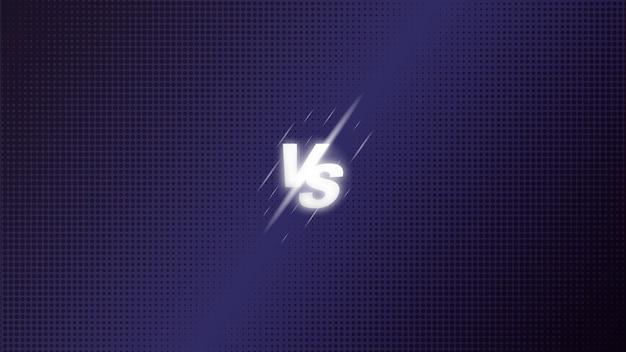 Versus vs kampf kampf bildschirm hintergrund halbton. prämie