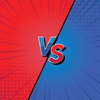Versus vs. kampfhintergrunddesign