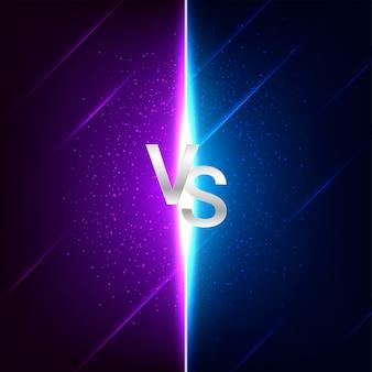 Versus vs kampfschlachtbildschirmhintergrund
