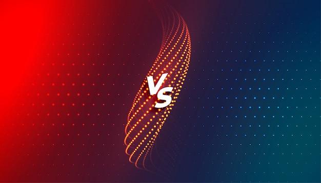 Versus vs vergleichsbildschirm hintergrundschablonendesign