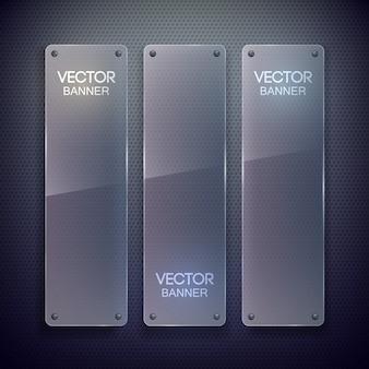 Vertikale banner aus glas