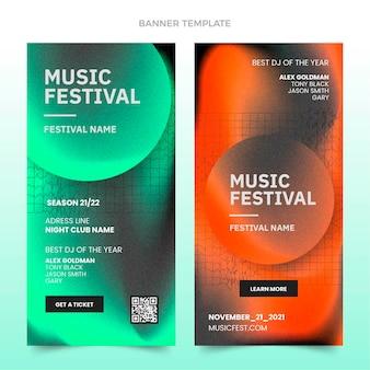 Vertikale banner des musikfestivals mit farbverlauf