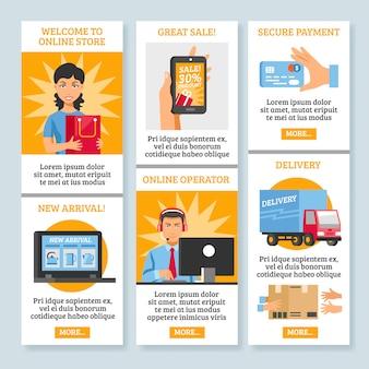 Vertikale banner für online-shopping