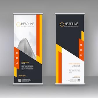 Vertikale banner standvorlage design