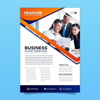Vertikale business flyer vorlage