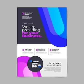 Vertikale business-flyer-vorlage