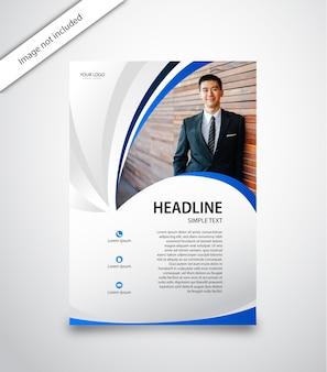 Vertikale business-flyer
