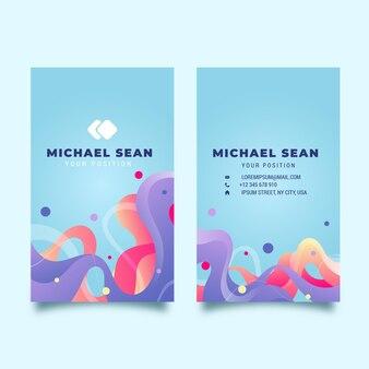 Vertikale doppelseitige visitenkarte
