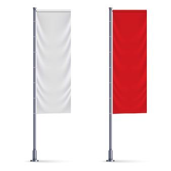Vertikale fahne