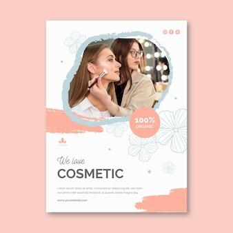 Vertikale flyer-schablone der organischen kosmetik