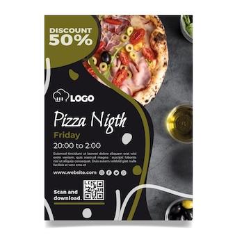 Vertikale flyer-schablone des italienischen essens