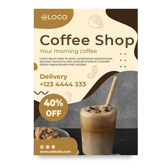Vertikale flyer-vorlage des coffeeshops