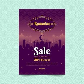 Vertikale flyer-vorlage des ramadan-verkaufs