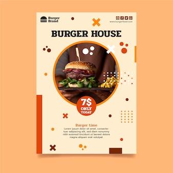 Vertikale flyer-vorlage für amerikanisches essen