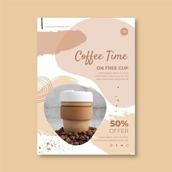 Vertikale flyer-vorlage für cafés