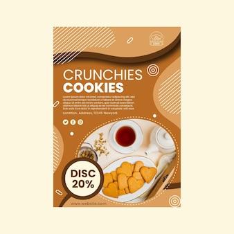 Vertikale flyer-vorlage für cookies