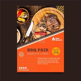 Vertikale flyer-vorlage für grill
