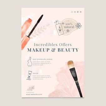Vertikale flyer-vorlage für kosmetikverkauf