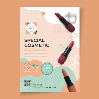 Vertikale flyer-vorlage für kosmetische artikel