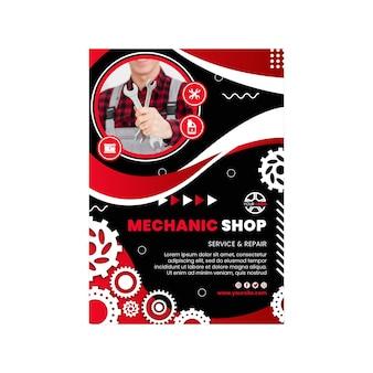 Vertikale flyer-vorlage für mechaniker