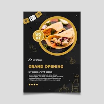 Vertikale flyer-vorlage für mexikanisches essen