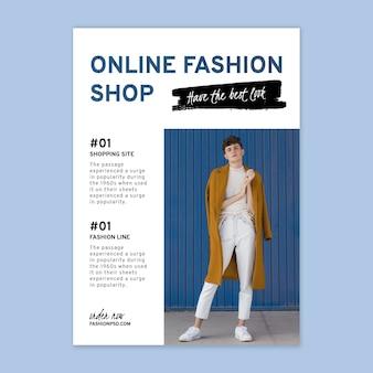 Vertikale flyer-vorlage für online-einkäufe