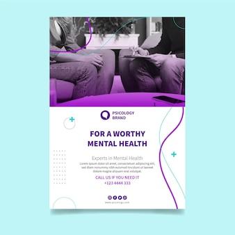 Vertikale flyer-vorlage für psychische gesundheit