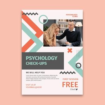 Vertikale flyer-vorlage für psychologie